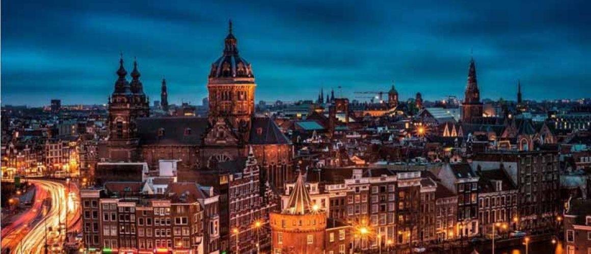 Amsterdam Cityscape at Night